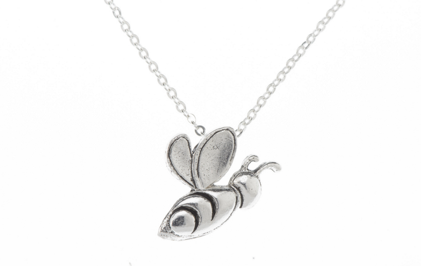 Silver Bee Necklace - the perfect gift that tells a story